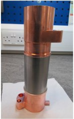 Cryofurnace vanadium tail before assembly in the cryofurnace